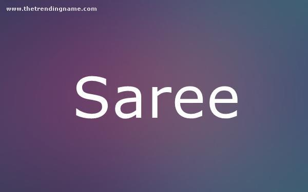 Baby Name Poster For Saree