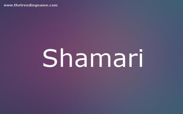 Baby Name Poster For Shamari
