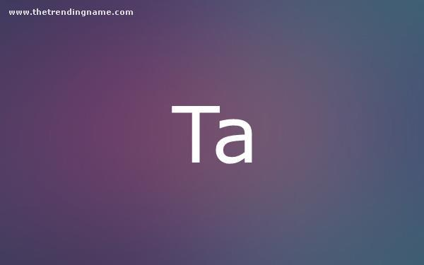 Baby Name Poster For Ta