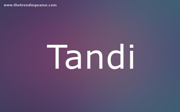 Baby Name Poster For Tandi