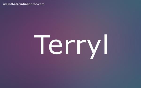 Baby Name Poster For Terryl