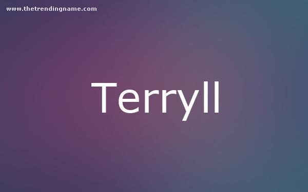 Baby Name Poster For Terryll