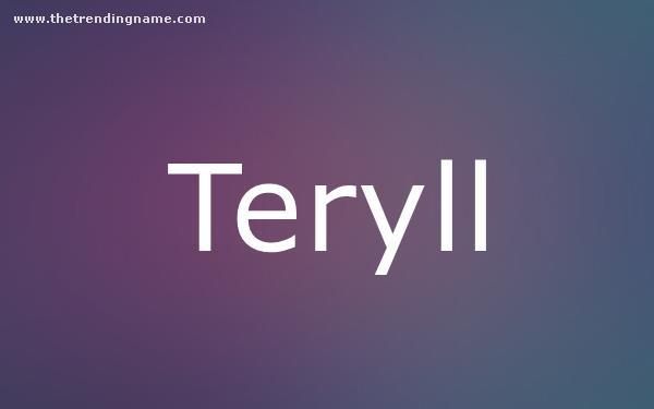 Baby Name Poster For Teryll