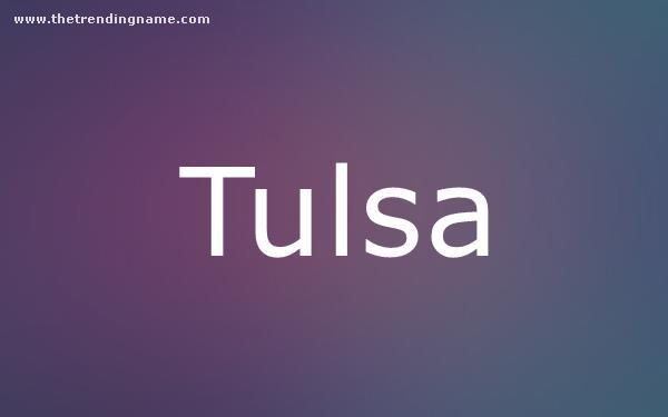 Baby Name Poster For Tulsa