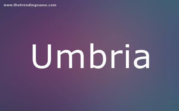 Baby Name Poster For Umbria