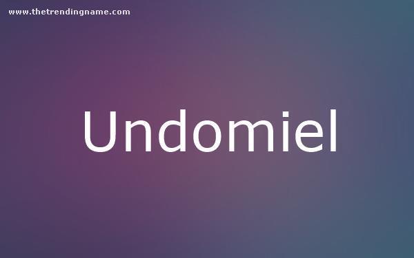 Baby Name Poster For Undomiel