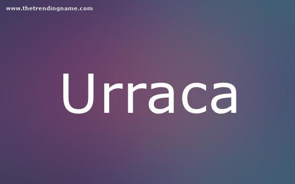 Baby Name Poster For Urraca