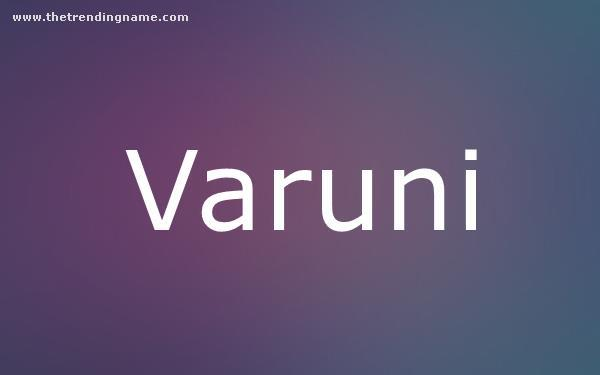 Baby Name Poster For Varuni