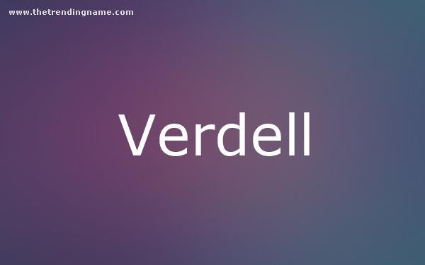 Baby Name Poster For Verdell