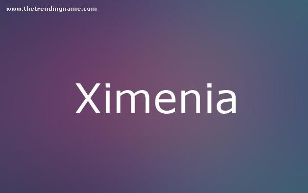 Baby Name Poster For Ximenia