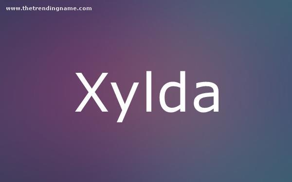 Baby Name Poster For Xylda