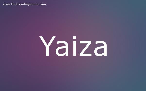 Baby Name Poster For Yaiza