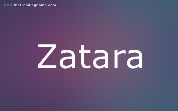 Baby Name Poster For Zatara