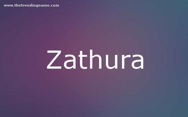 Baby Name Poster For Zathura