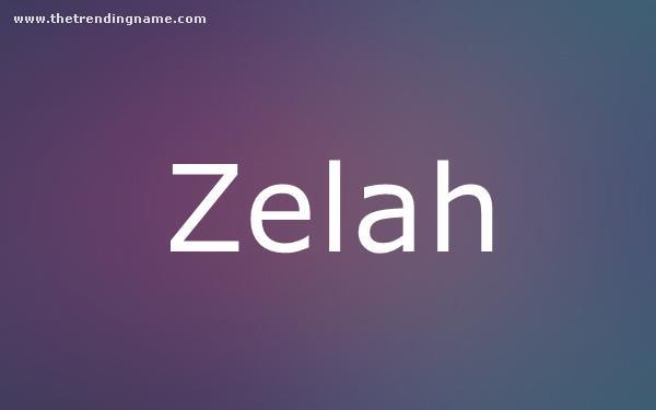 Baby Name Poster For Zelah