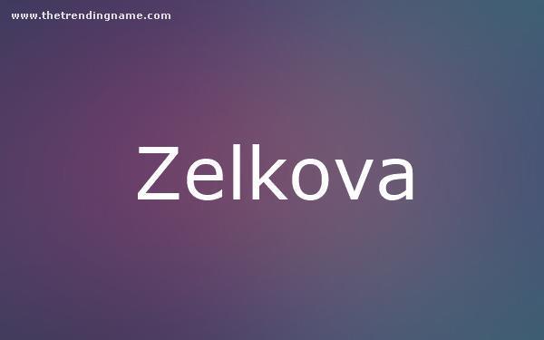 Baby Name Poster For Zelkova