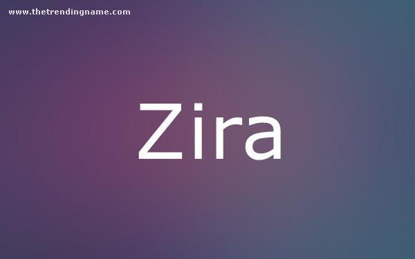 Baby Name Poster For Zira