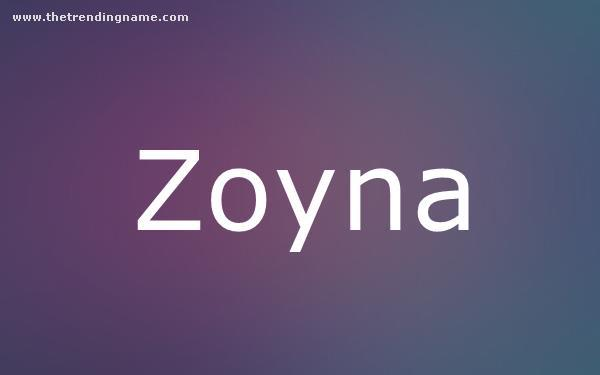 Baby Name Poster For Zoyna