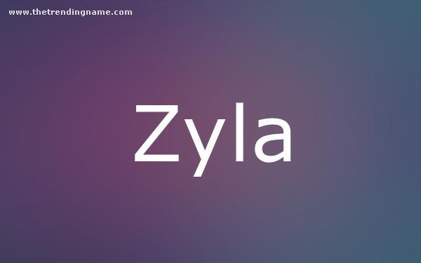 Baby Name Poster For Zyla