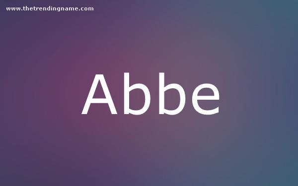 Baby Name Poster For Abbe