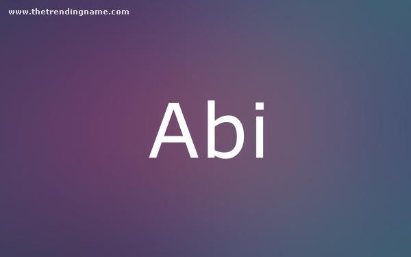Baby Name Poster For Abi
