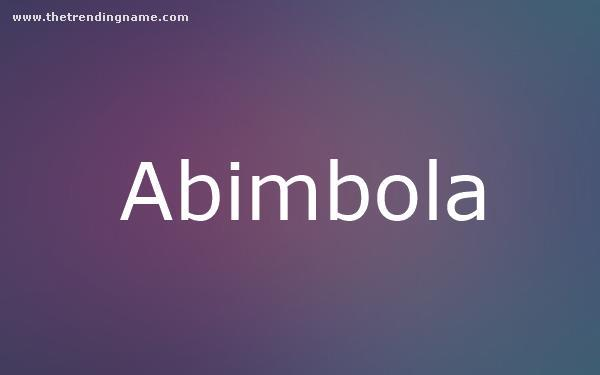 Baby Name Poster For Abimbola