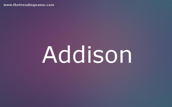 Baby Name Poster For Addison