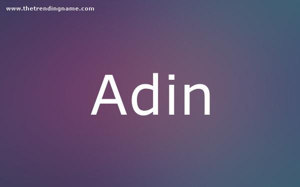 Baby Name Poster For Adin