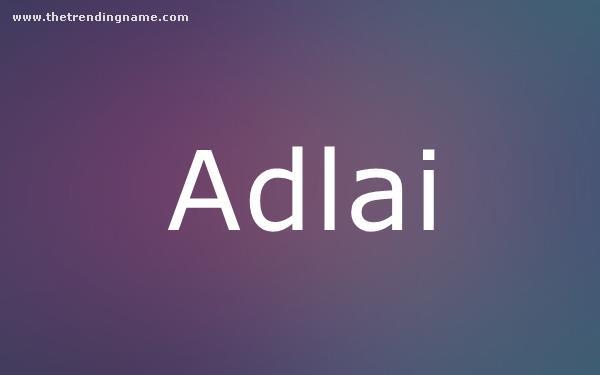 Baby Name Poster For Adlai