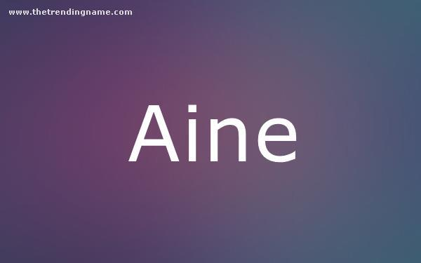 Baby Name Poster For Aine