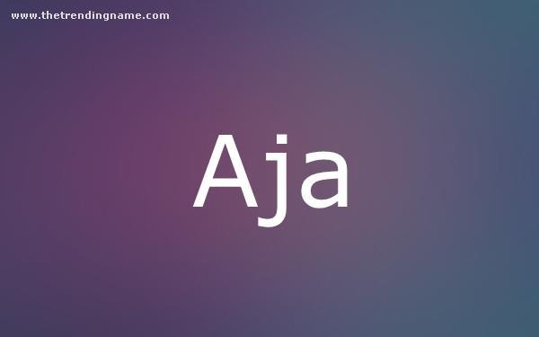 Baby Name Poster For Aja