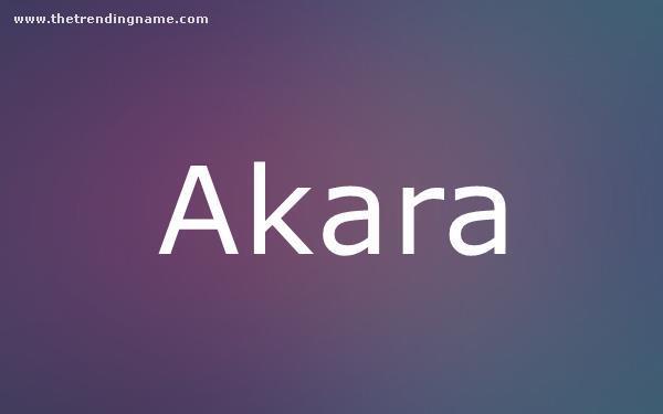 Baby Name Poster For Akara