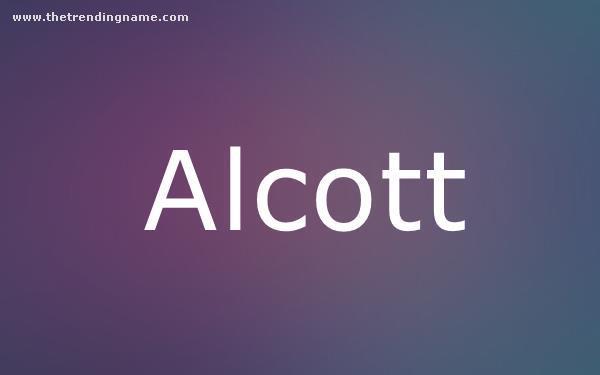 Baby Name Poster For Alcott