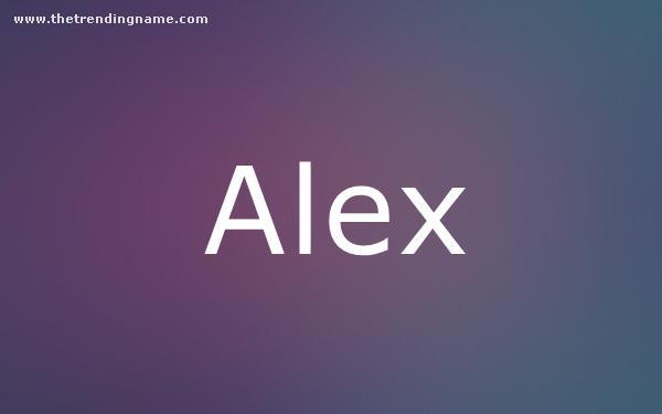 Baby Name Poster For Alex