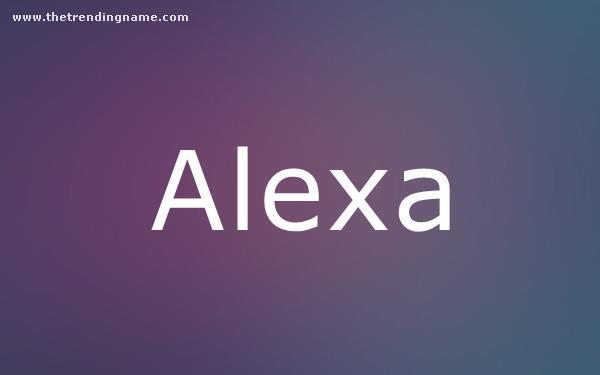 Baby Name Poster For Alexa