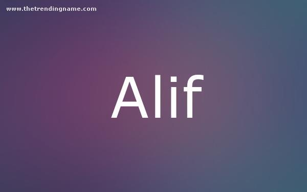 Baby Name Poster For Alif