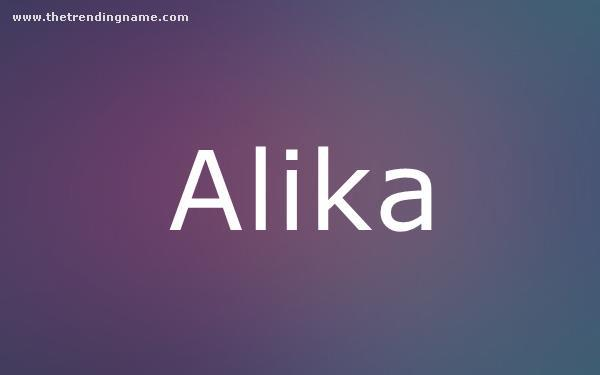 Baby Name Poster For Alika