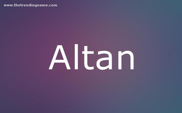 Baby Name Poster For Altan