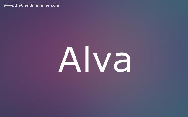Baby Name Poster For Alva