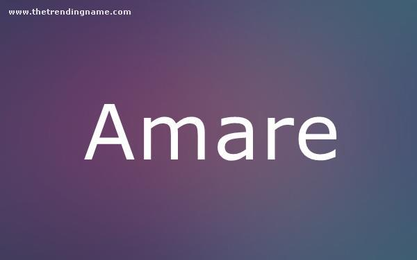 Baby Name Poster For Amare