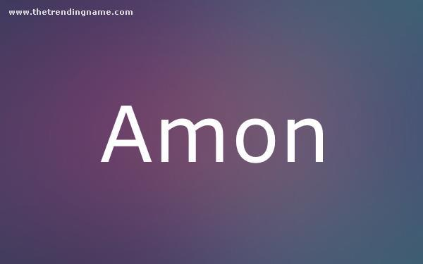 Baby Name Poster For Amon