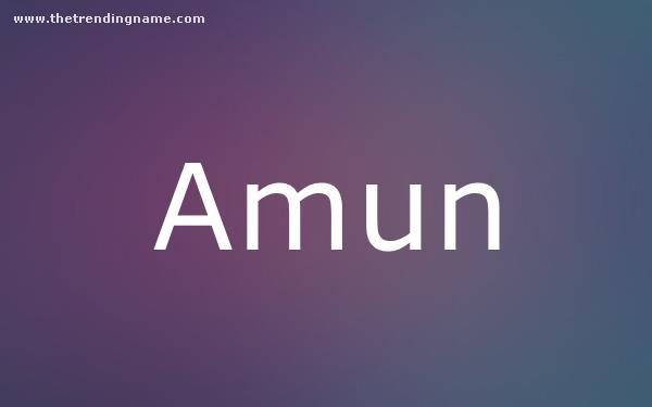 Baby Name Poster For Amun
