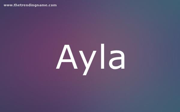 Baby Name Poster For Ayla