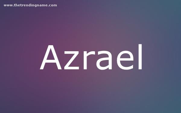 Baby Name Poster For Azrael