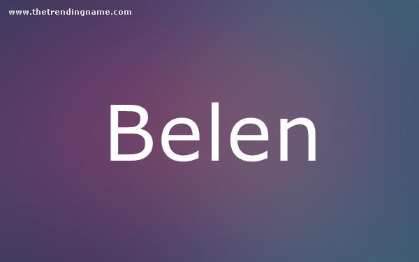 Baby Name Poster For Belen