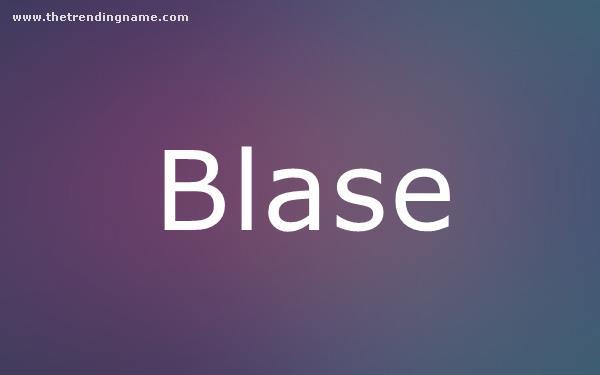 Baby Name Poster For Blase