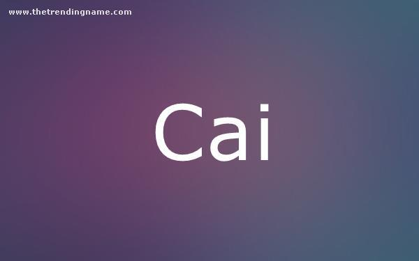 Baby Name Poster For Cai
