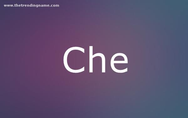 Baby Name Poster For Che