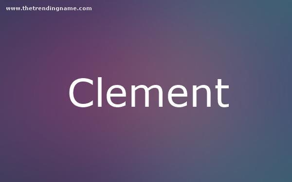Baby Name Poster For Clement