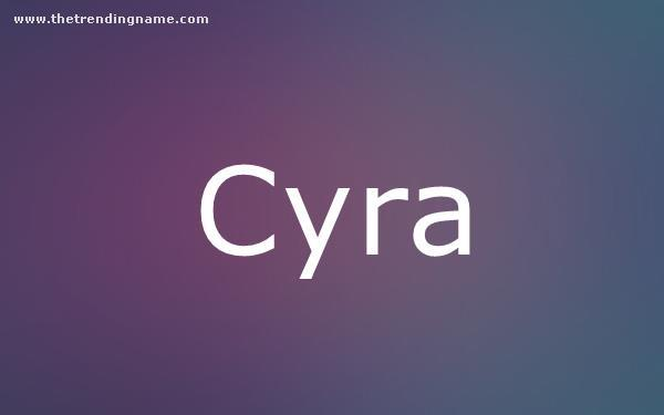 Baby Name Poster For Cyra